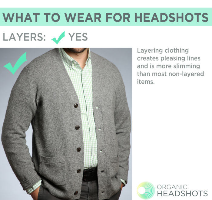 What to wear for headshots: men