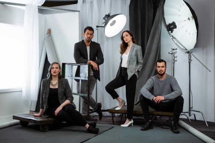 Organic Headshots, group photo, staff photo