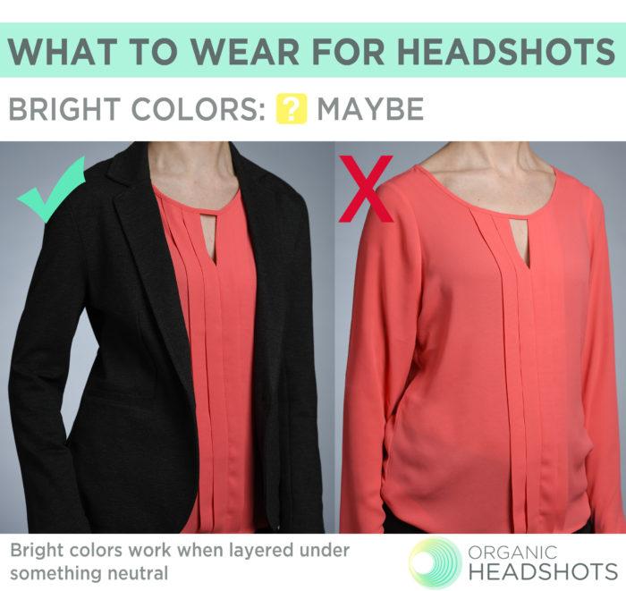 What to wear for headshots: women